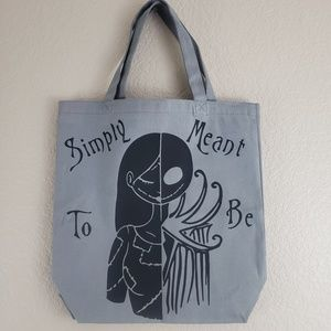Handbags - Jack & Sally Meant To Be Grey Canvas Tote